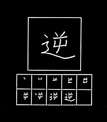 kanji berlawanan