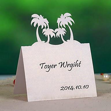 Decoracion de Bodas de Playa, Soportes de Tarjetas