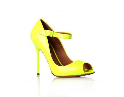 neon yellow shoe