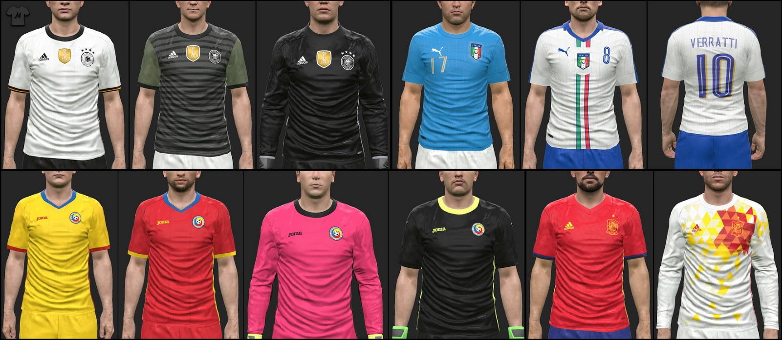 pack euro 2016