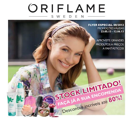 Flyer do Catálogo 08/2013 da Oriflame