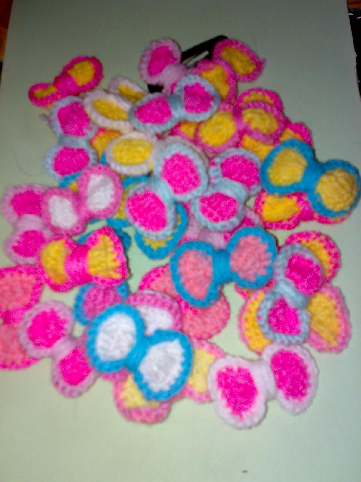 Crochet Ribbon Utk Pin Brooch Klip Rambut Nianadia Craft Baju