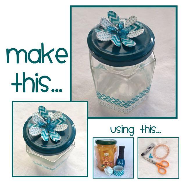 Floral Mine Masking Tape Set in a Jar