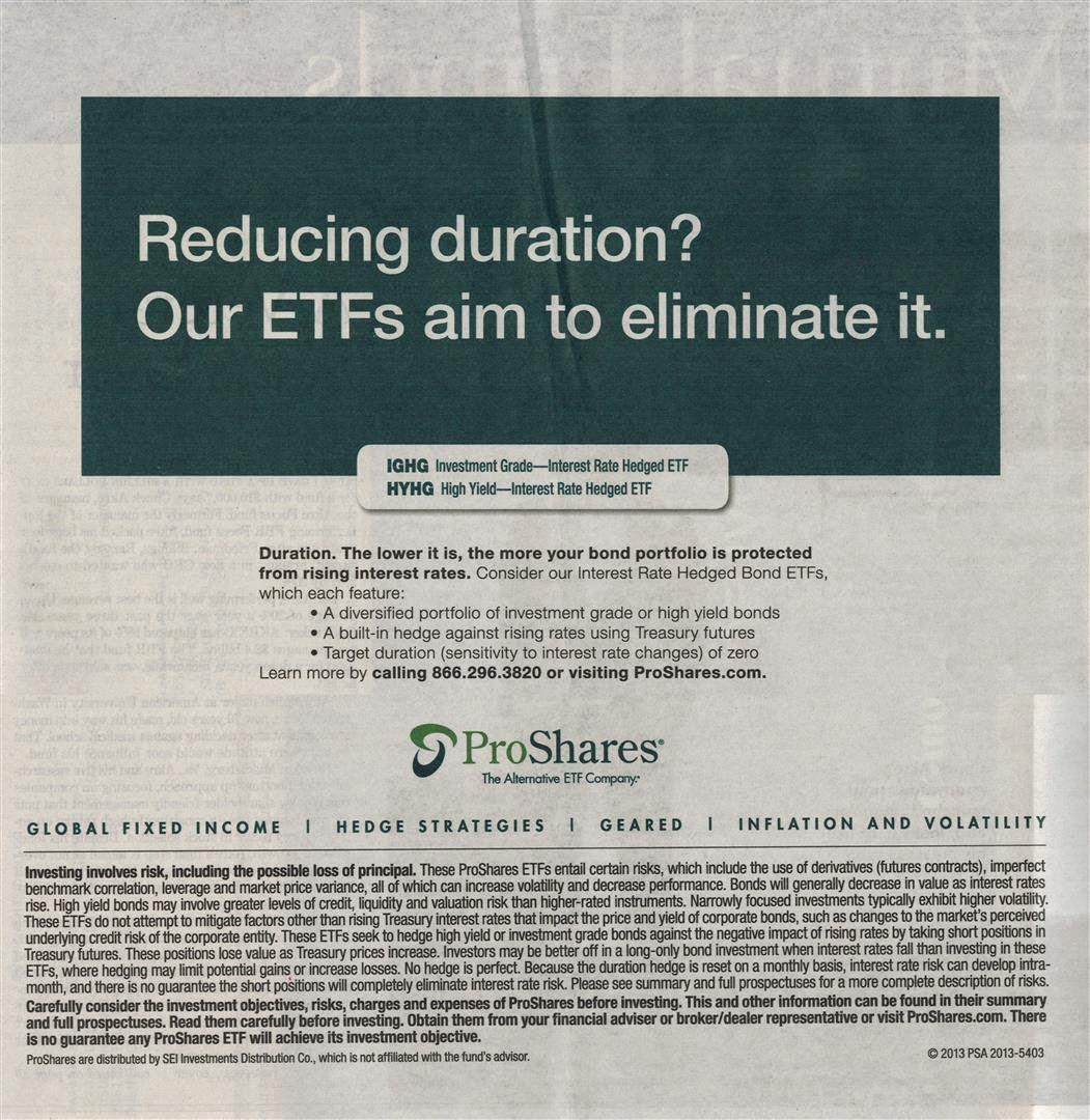 Proshares Interest Rate Hedged ETFs - IGHG & HYHG Fund