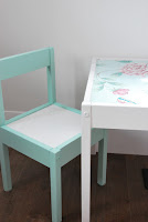 http://thesweetestdigs.com/2015/06/30/ikea-hack-latt-table-and-chairs/