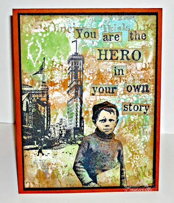 Mixed Media Card - Stamps Artistic Outpost Paperboy