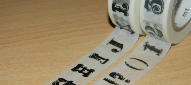 Washi Tape - numbers and letters