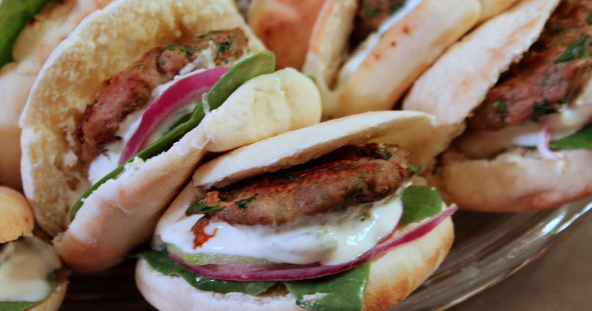 ... Greek Style Turkey Spinach Pita Sliders with Spicy Garlic Feta Sauce