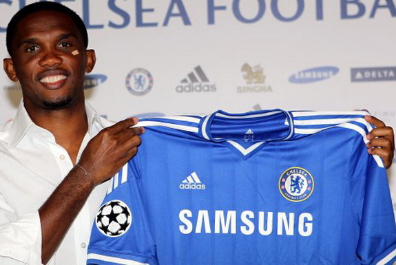 Samuel Eto'o has penned a one-year deal at Chelsea following his transfer from Anzhi
