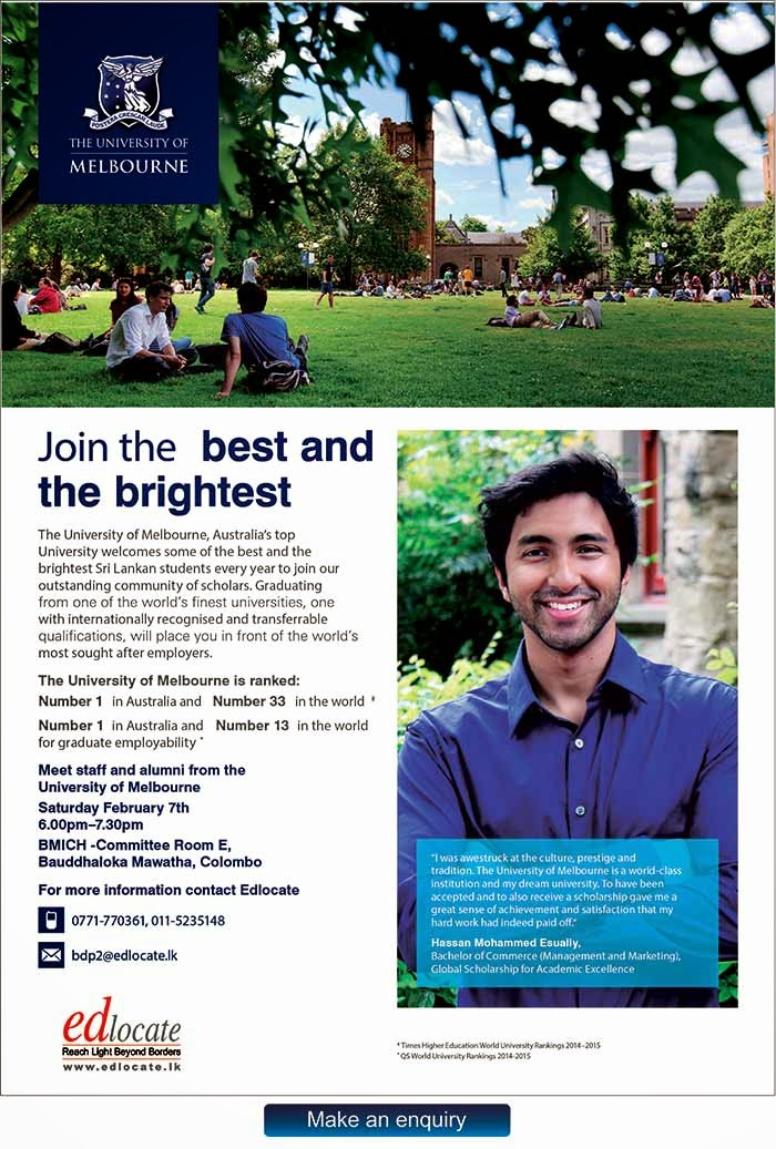 Established in 1853, the University of Melbourne is a public-spirited institution that makes distinctive contributions to society in research, teaching & knowledge transfer. Ranked as one of the best universities in Australia & internationally too, Melbourne's teaching excellence has been rewarded two years in a row by grants from the Commonwealth Government's Learning and Teaching Performance Fund for Australian universities that demonstrate excellence in undergraduate teaching and learning.
