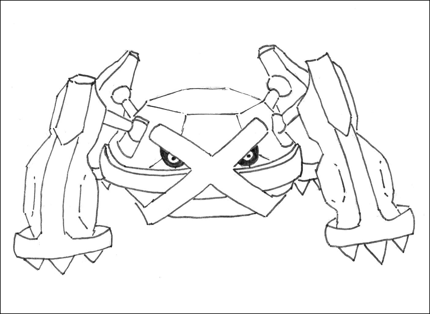 metagross pokemon coloring pages - photo#8