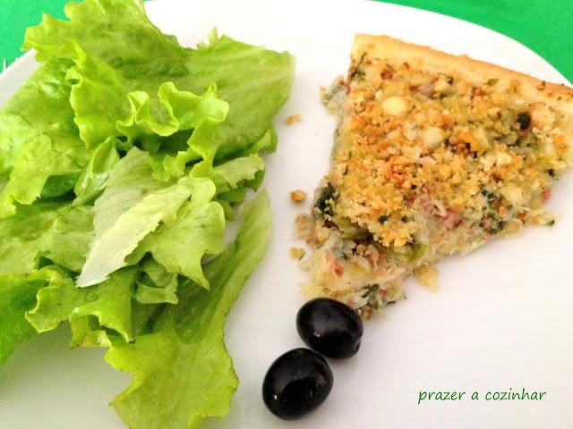 prazer a cozinhar - Tarte de bacalhau com broa