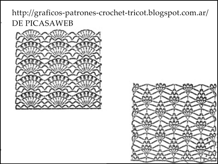 PATRONES=GANCHILLO = CROCHET = GRAFICOS =TRICOT = DOS AGUJAS: MAS ...