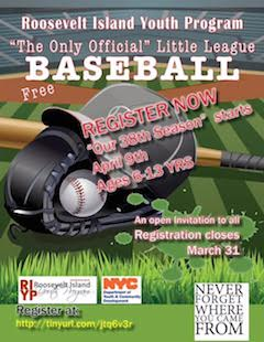Sign Up For Roosevelt Island Youth Program Little League Baseball Season