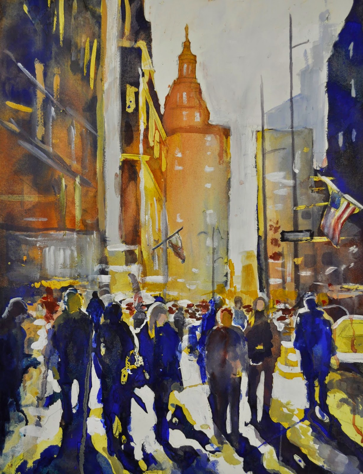 Watercolor art society of houston - My Watercolor Painting Stroll Down 7th Avenue Was Recently Accepted Into The Watercolor Art Society Houston 38th International Exhibition 2015