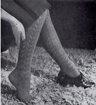 1940's Knitting - Lace Stockings free pattern