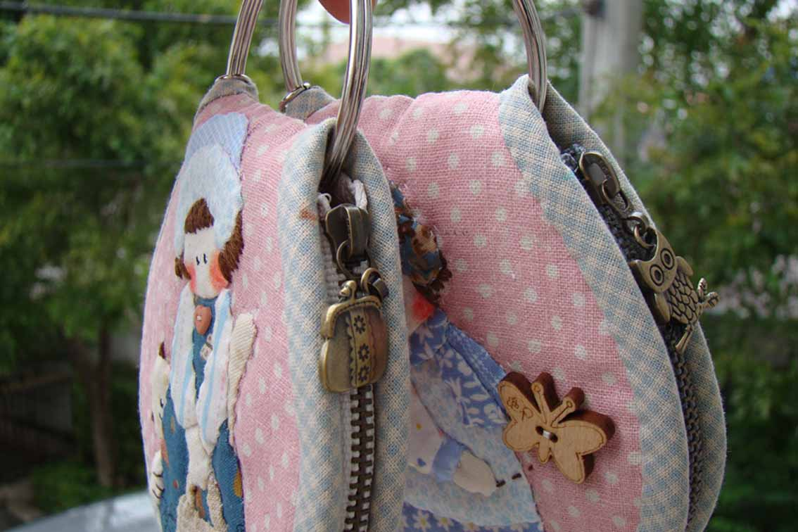 Marmalade: shabby chic applique key pouch