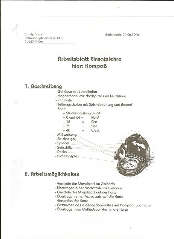Four Bees: Bundesgrenzschutz Bezard Compass, BGS Marching Compass ...