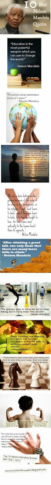 Top ten Nelson Mandela  Quotes