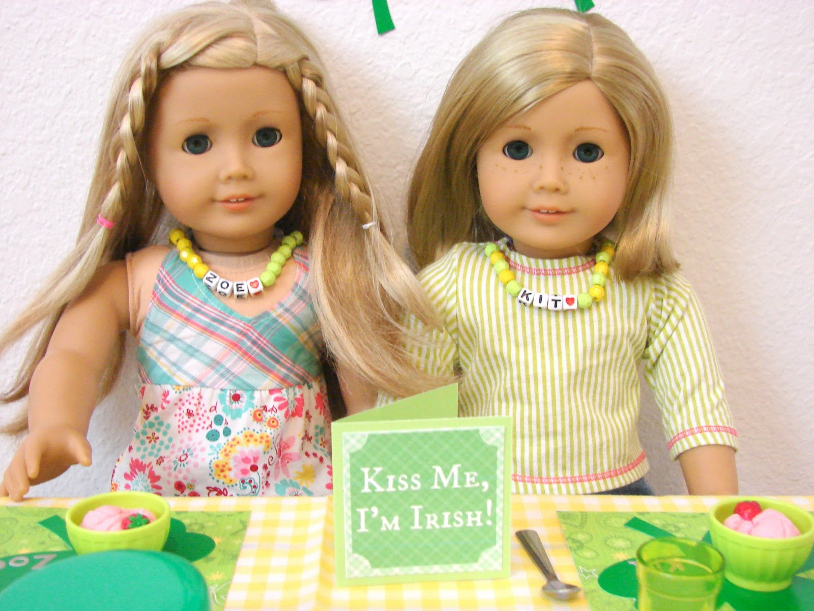 american girl doll play doll play st patrick s day slumber party