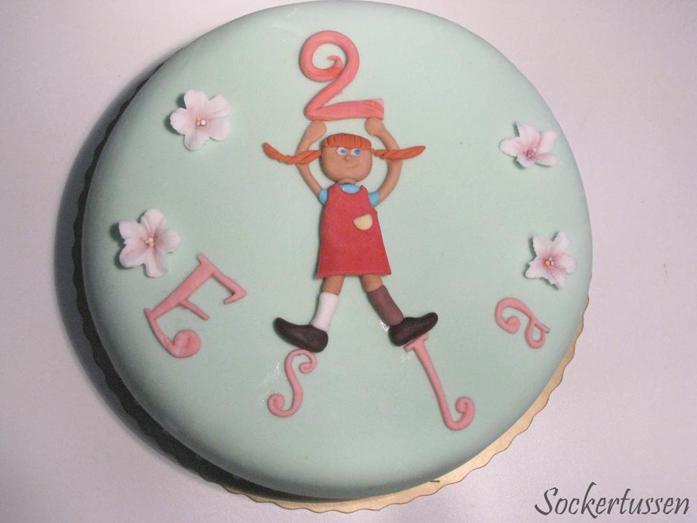 skriva på tårta