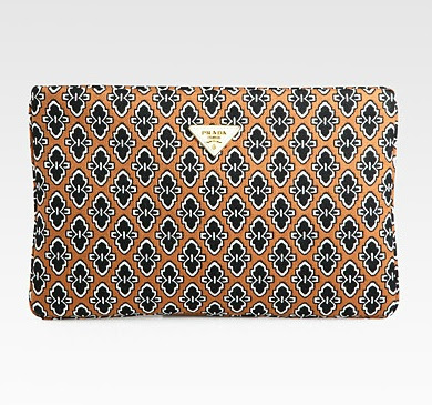 Prada tessuto jacquard clutch - iloveankara.blogspot.co.uk