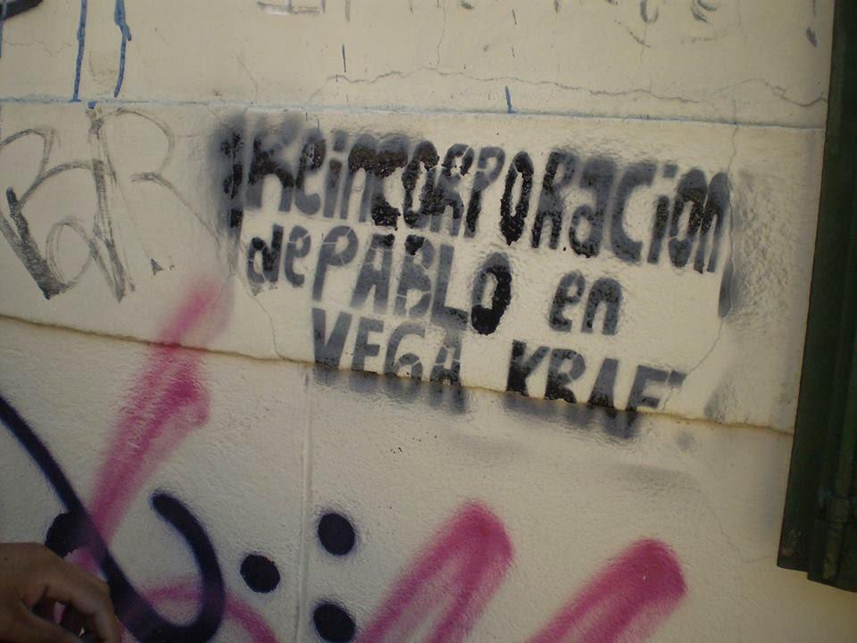 REINCORPORACION DE PABLO VEGA