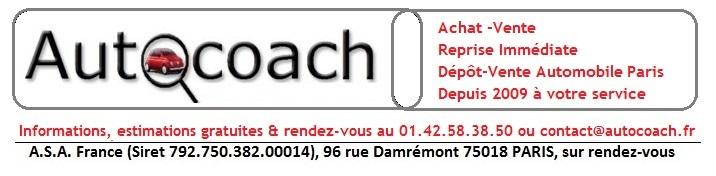 Autocoach Dépôt-Vente Automobile Paris