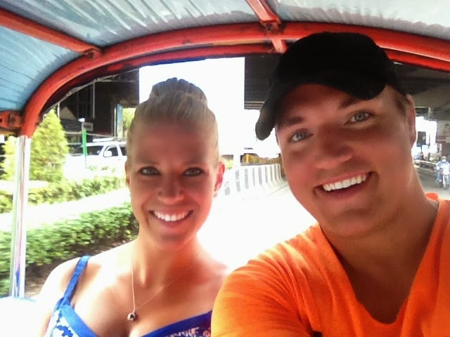 Thailand tuk tuk ride honeymoon transportation