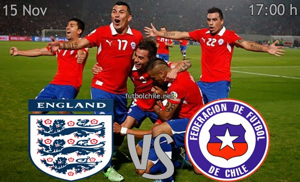 Inglaterra vs Chile - Amistoso Internacional - 17:00 h - 15/11/2013