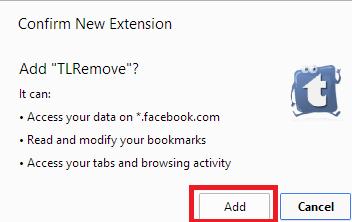 Remove Facebook Timeline