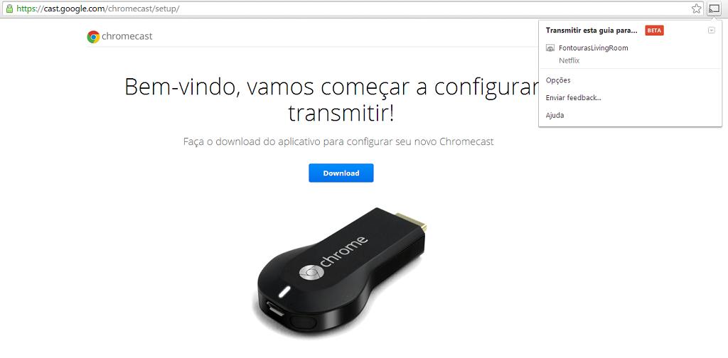 extensao google chromecast chrome