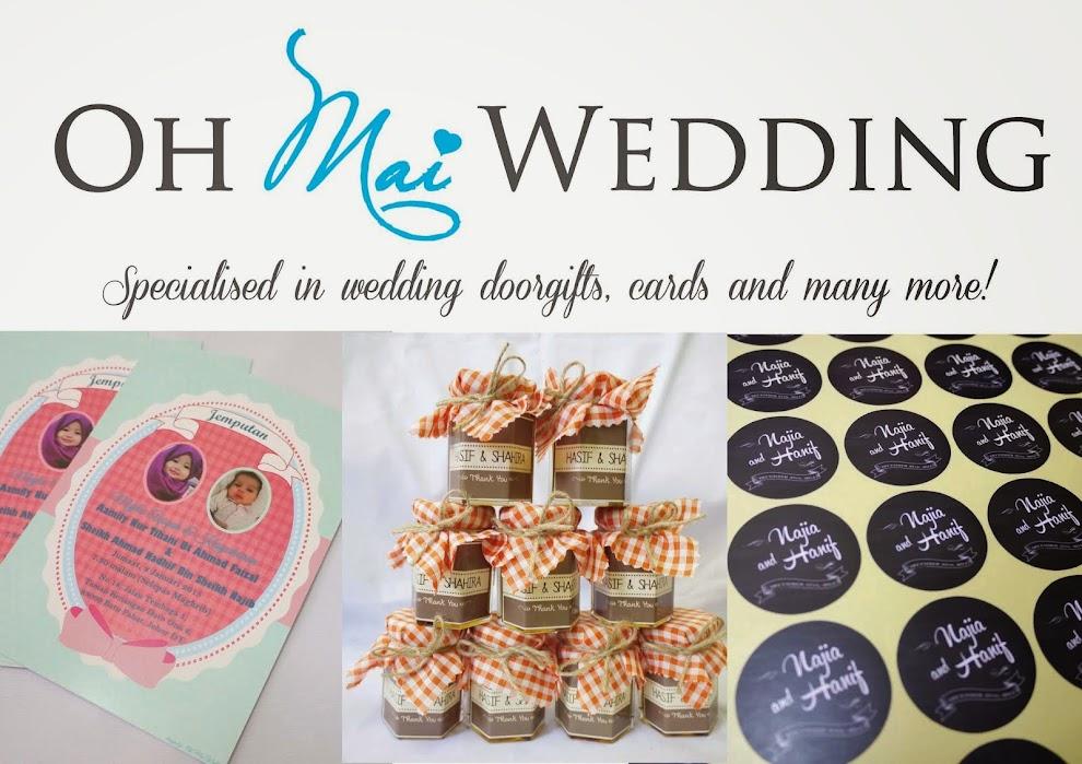 Oh Mai Wedding - Door gift Sticker Kahwin Bunting Button Badge