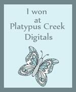 I won at Platypus Creek Digitals!