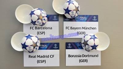 Hasil Drawing Semi Final Liga Champions 2013