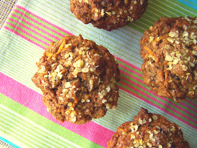 The Bikini Baker: Whole Grain Morning Glory Muffins