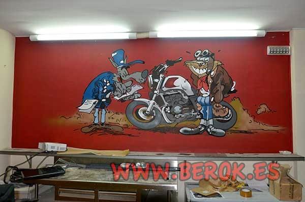 Decoración graffiti mural profesional de cervecería