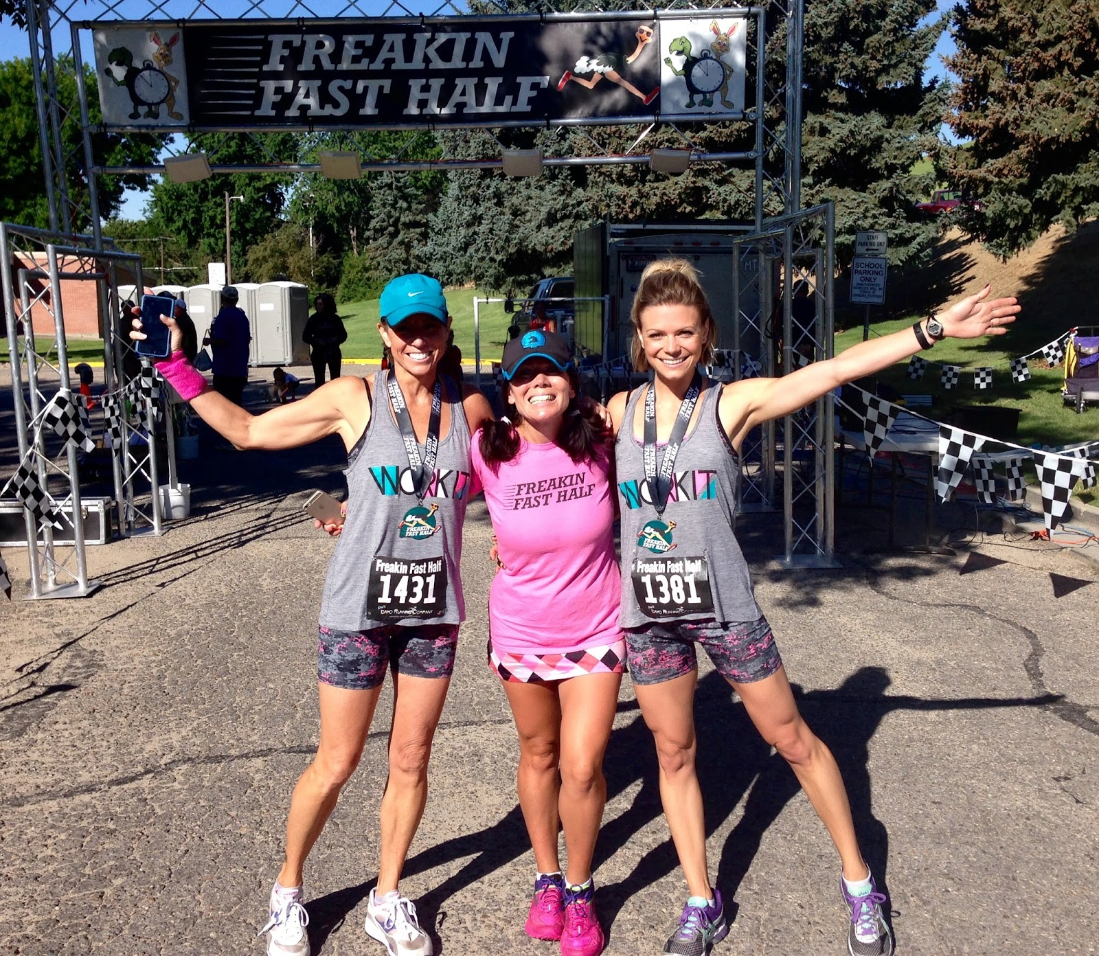 Freakin' Fast Half Marathon, Boise Runner, Downhill Half Marathon, Mom and Daughter Running Together, Final Kick Events