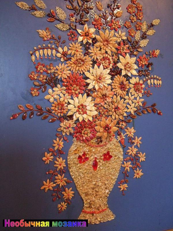 Картины своими руками из круп и семян