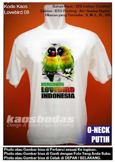Kaos Gambar Love Bird 08