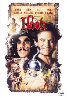 Capa do filme Hook - A volta do Capitão Gancho, de Steven Spielberg