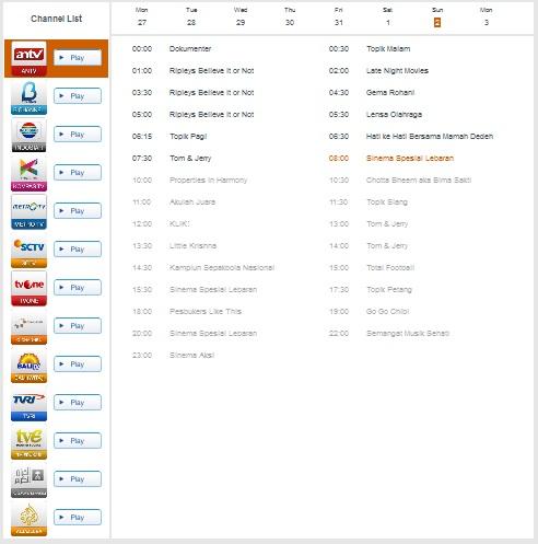Daftar Chanel UseeTV