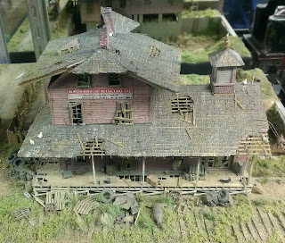 miniature model house in poor shape