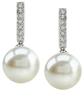 bridal earrings pearl