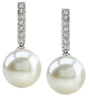 bridal earrings pearl