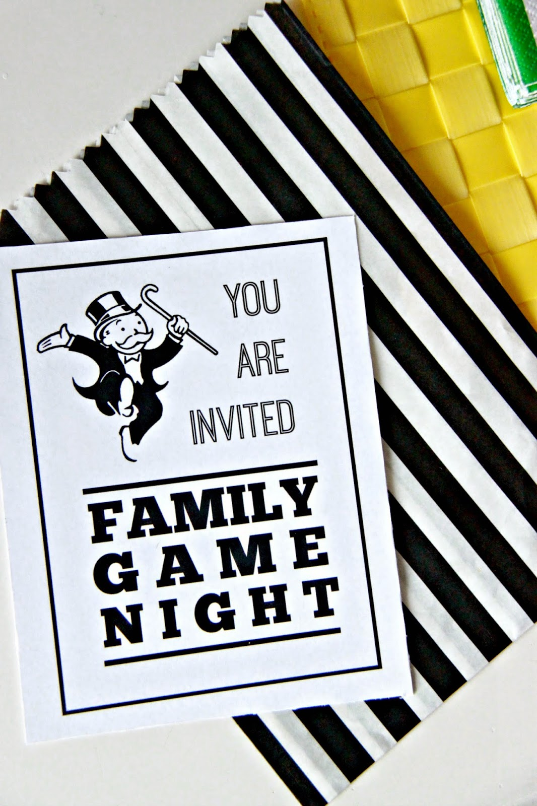 Family Game Night Party With Monopoly Plus