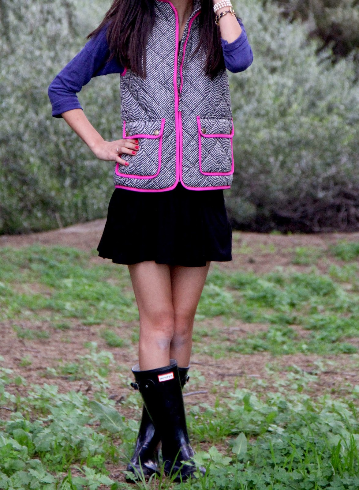 Little Miss Haute Couture: Herringbone Excursion Vest // Collaboration