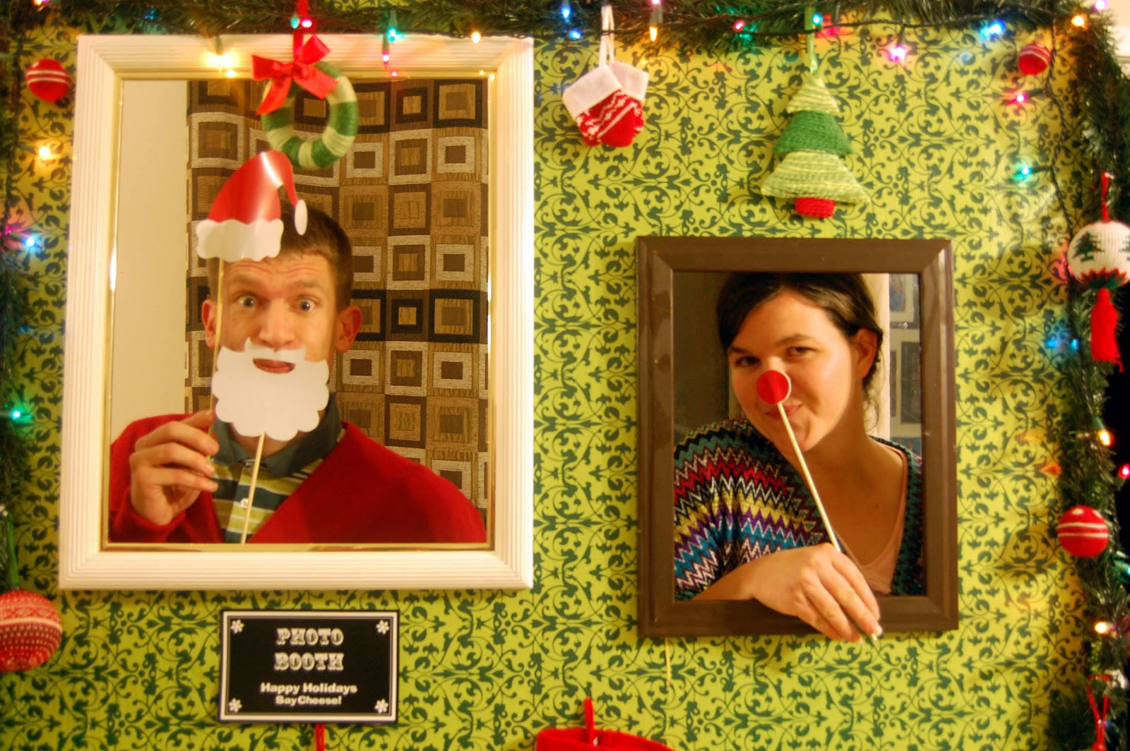 Christmas Sweater Party Ideas Part - 42: {Ugly Sweater Party Ideas} How To Build A Photo Booth