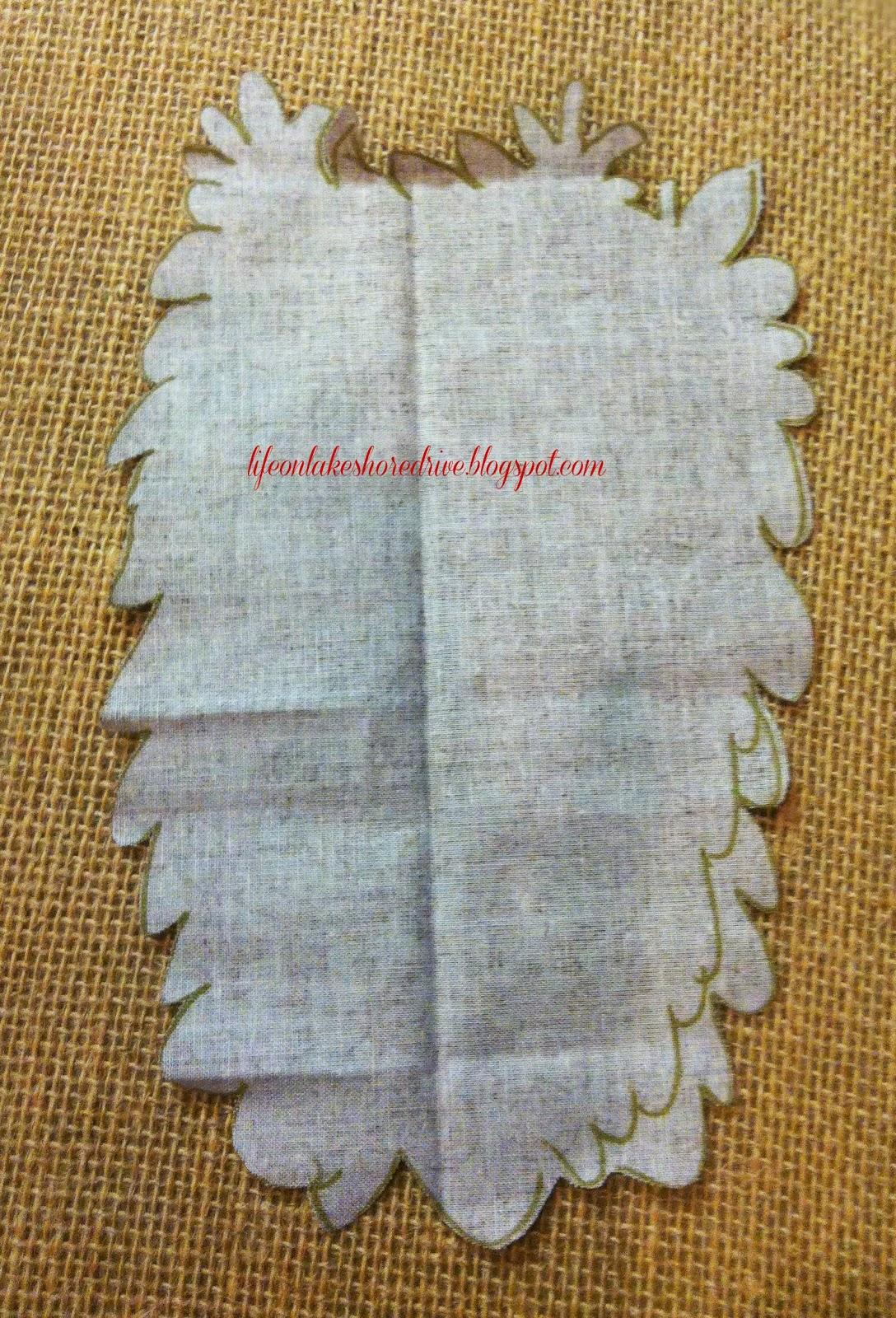 Fabric owls burlap fall decor blessing reminder life on for Decorative burlap fabric