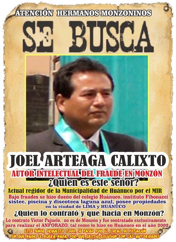 REGIDOR DE HUANUCO JOEL ARTEAGA